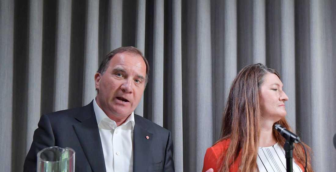 Stefan Löfven och Susanna Gideonsson.