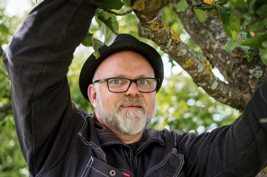 Bosse Rappne, trädgårdsmästare i dubbel bemärkelse.