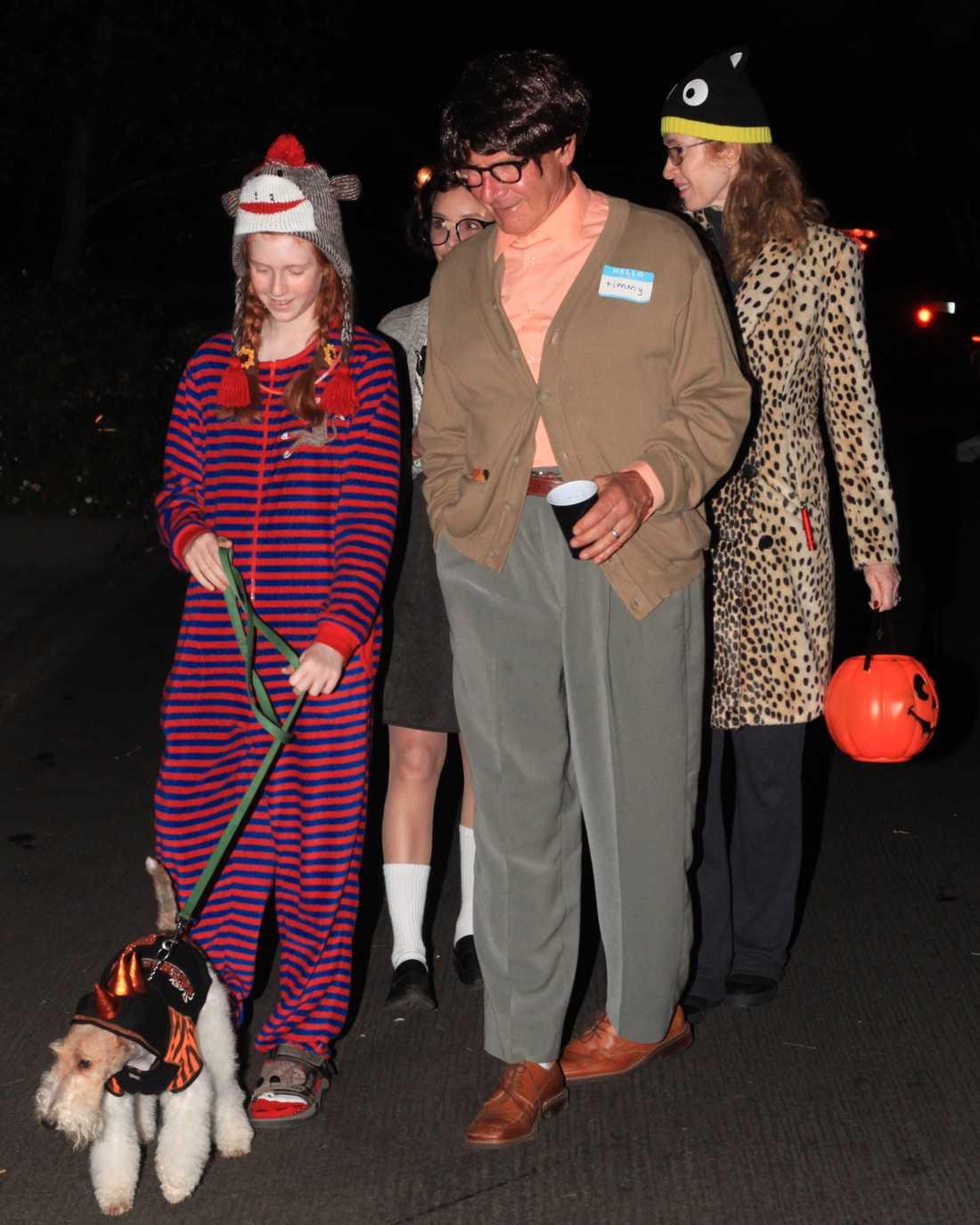 Harrison Ford och Calista Flockhart redo för Halloweenfest.