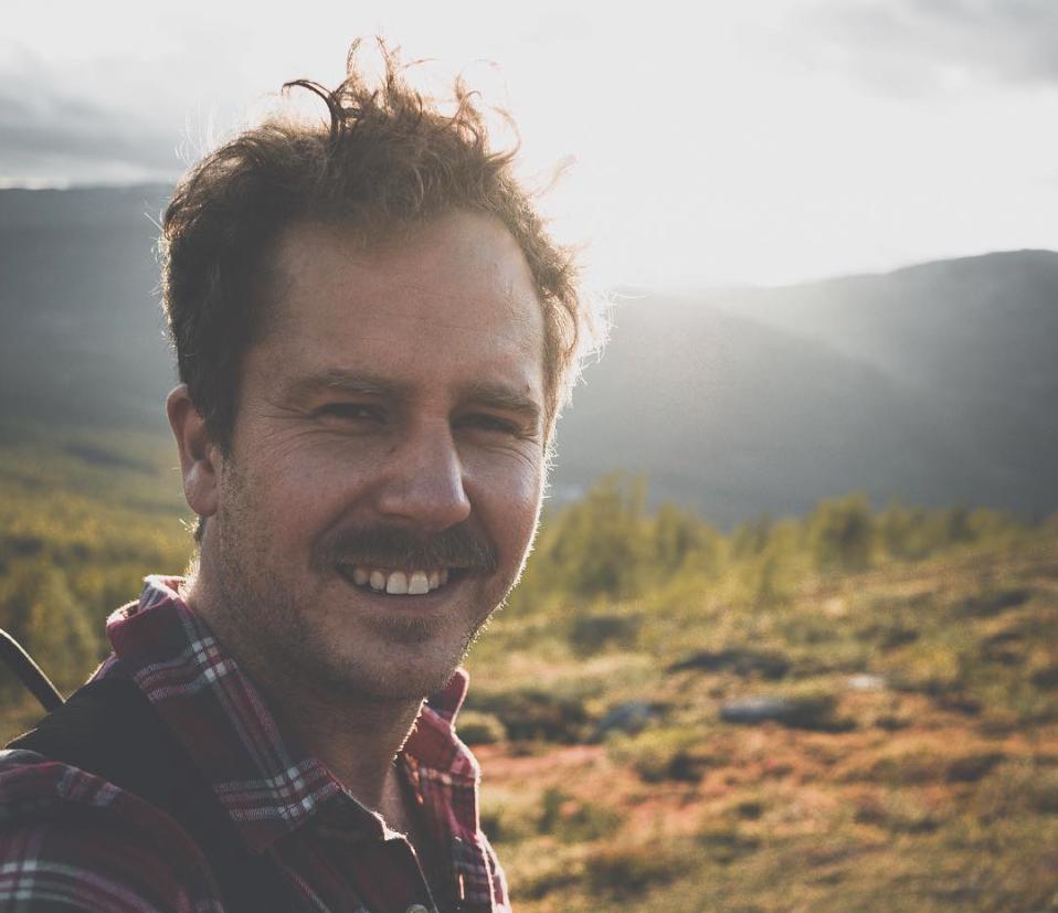 Jonas Berglund tillbringar mycket tid i naturen, oavsett årstid.