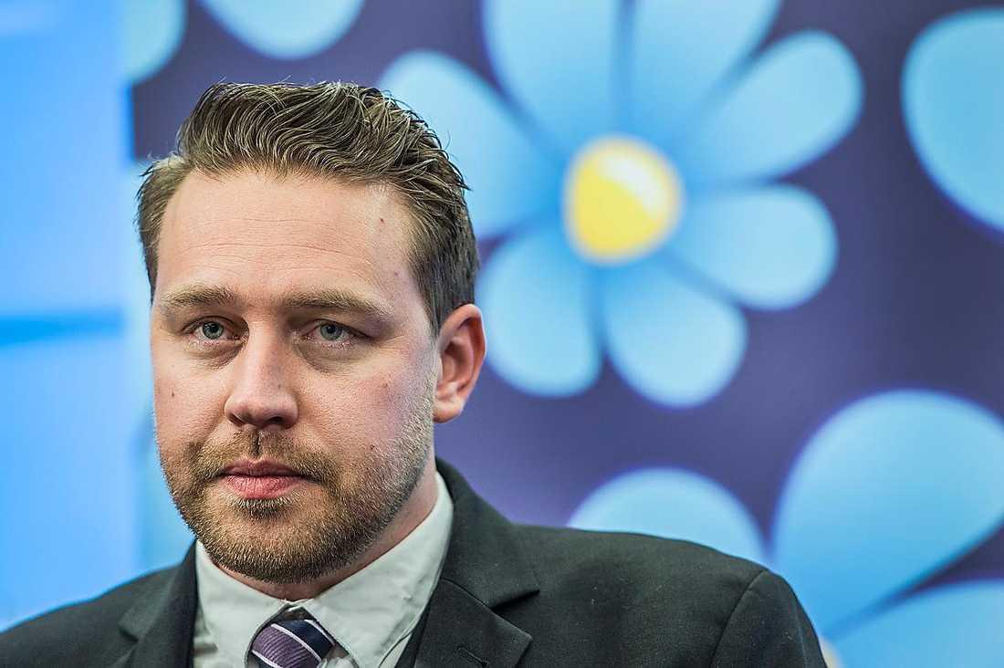 Mattias Karlsson, 38. Gruppledare i riksdagen sedan 2014.