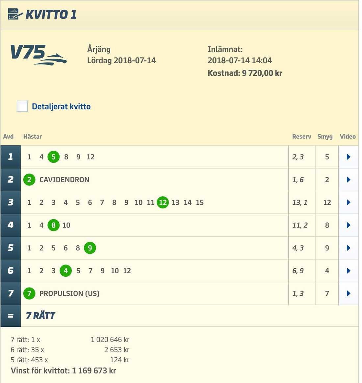Per Skoglunds vinnande V75-system.