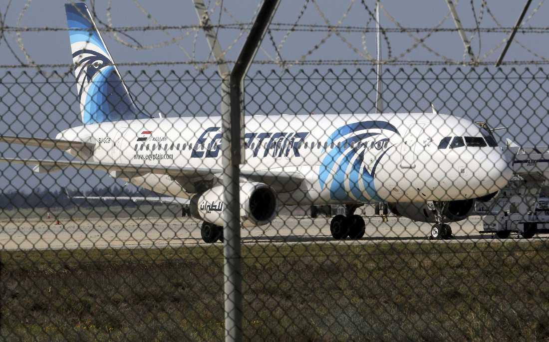 Det var ett plan av den här typen, en Airbus 320, som försvann från radarn på en flight mellan Paris och Kairo.