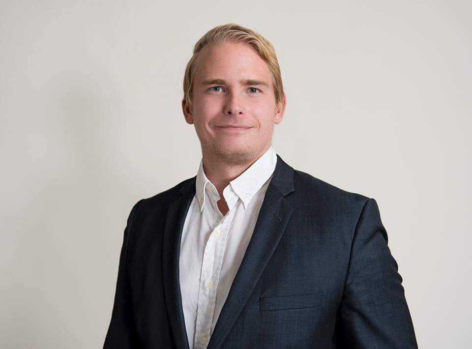 Sverigedemokraternas informationschef Henrik Gustafsson.