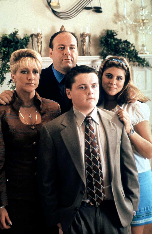 "Som Tony Soprano i tv-serien ""Sopranos""."