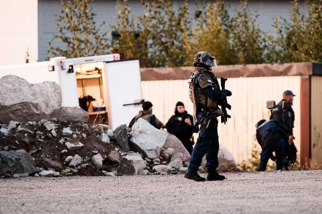 De två männen sköt mot poliser i tjänst i finländska Borgå. Arkivbild.