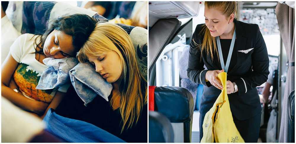 Var noga med att inte inkräkta på någon annans utrymme ombord. Det är inte Lina Sjölund Gröndahl på bilden.