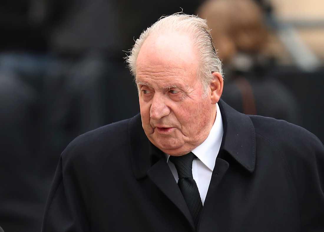 Spaniens tidigare kung Juan Carlos vid ett besök i Paris 2019.