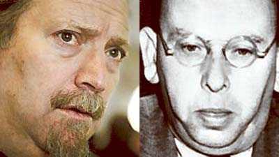Dror Feiler, kompositör, och Hanns Eisler, östtysk tonsättare, död 1962.