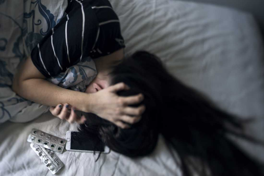 Andelen barn och unga som mår psykiskt dåligt fortsätter att öka. Arkivbild.