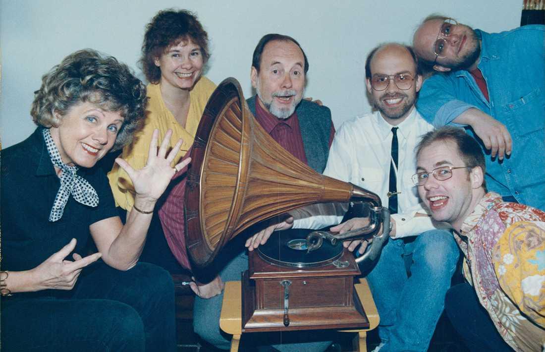 Gullan Bornemark med familj.