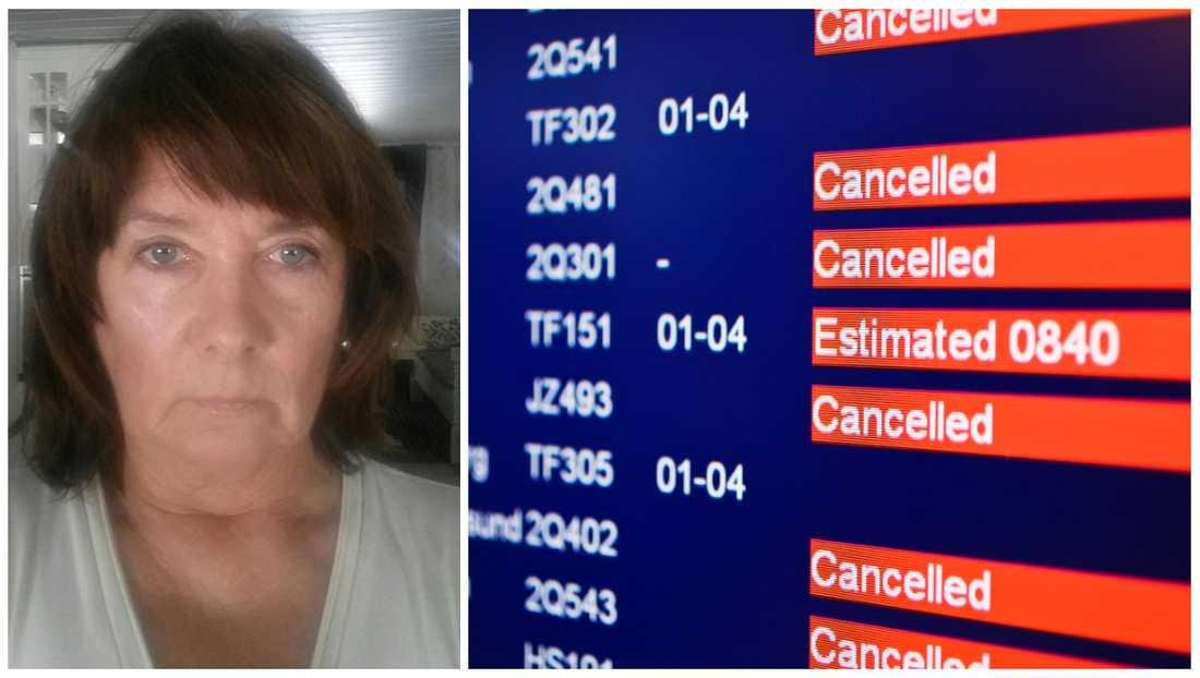 Helena Rahm missar ersättning för sin flygförsening efter nya flygreglerna.