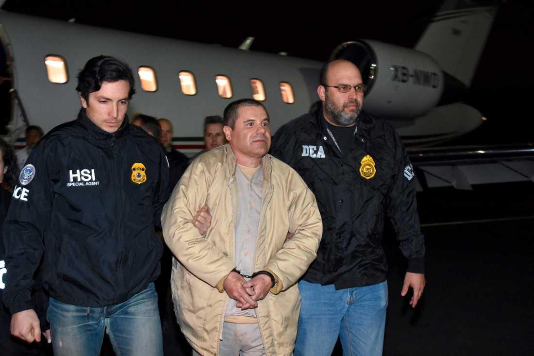 """Joaquin """"El Chapo"""" Guzman utlämnades till USA i januari förra året. Arkivbild."""