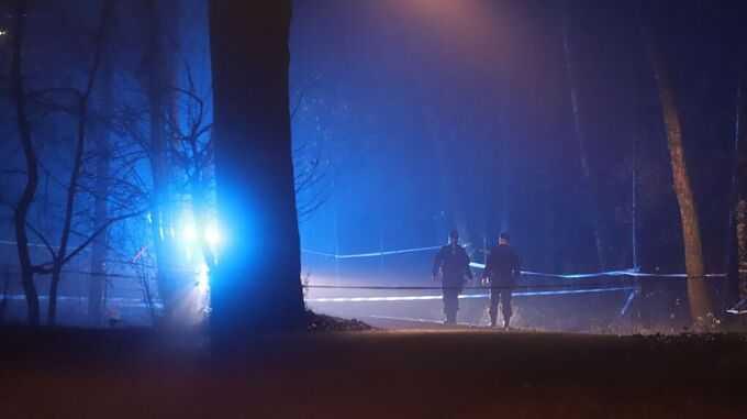 Personen hittades utomhus