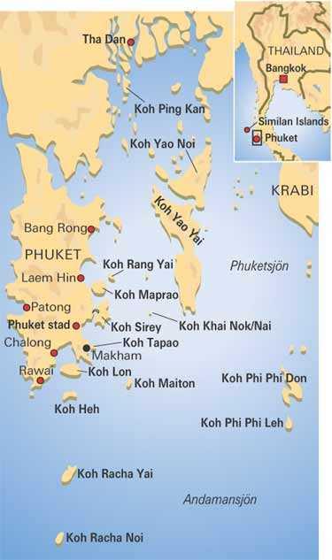 Karta Thailand Patong.Karta Oarna Runt Phuket Aftonbladet