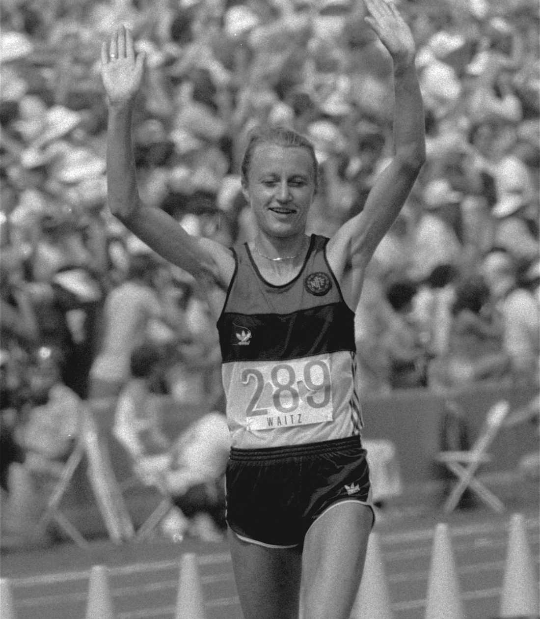 Waitz tog silver i OS i Los Angeles 1984.