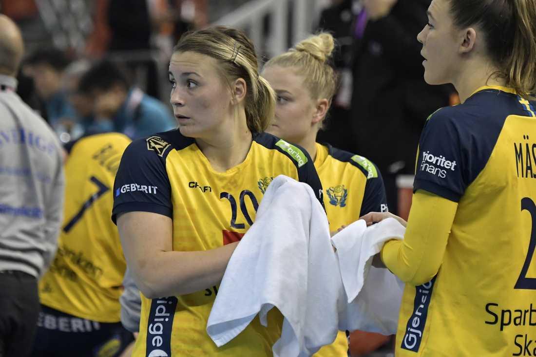 Sveriges Isabelle Gulldén (till vänster). Arkivbild.