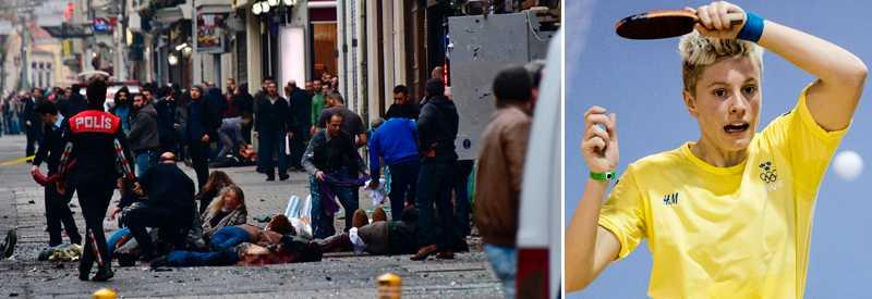 En självmordsbombare utlöste en sprängladdning på affärsgatan Istiklal.