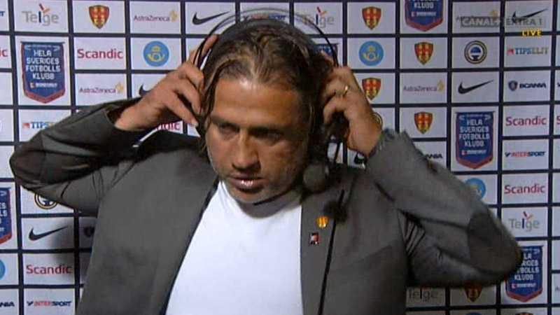 Melkemichel var vansinnig och slängde av sig lurarna och lämnade intervjun efter matchen.