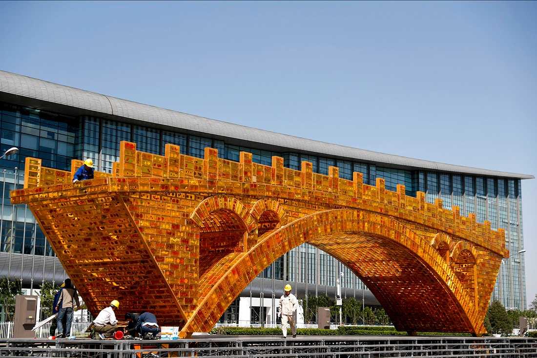 """""""The golden bridge of Silk Road"""", Beijng."""