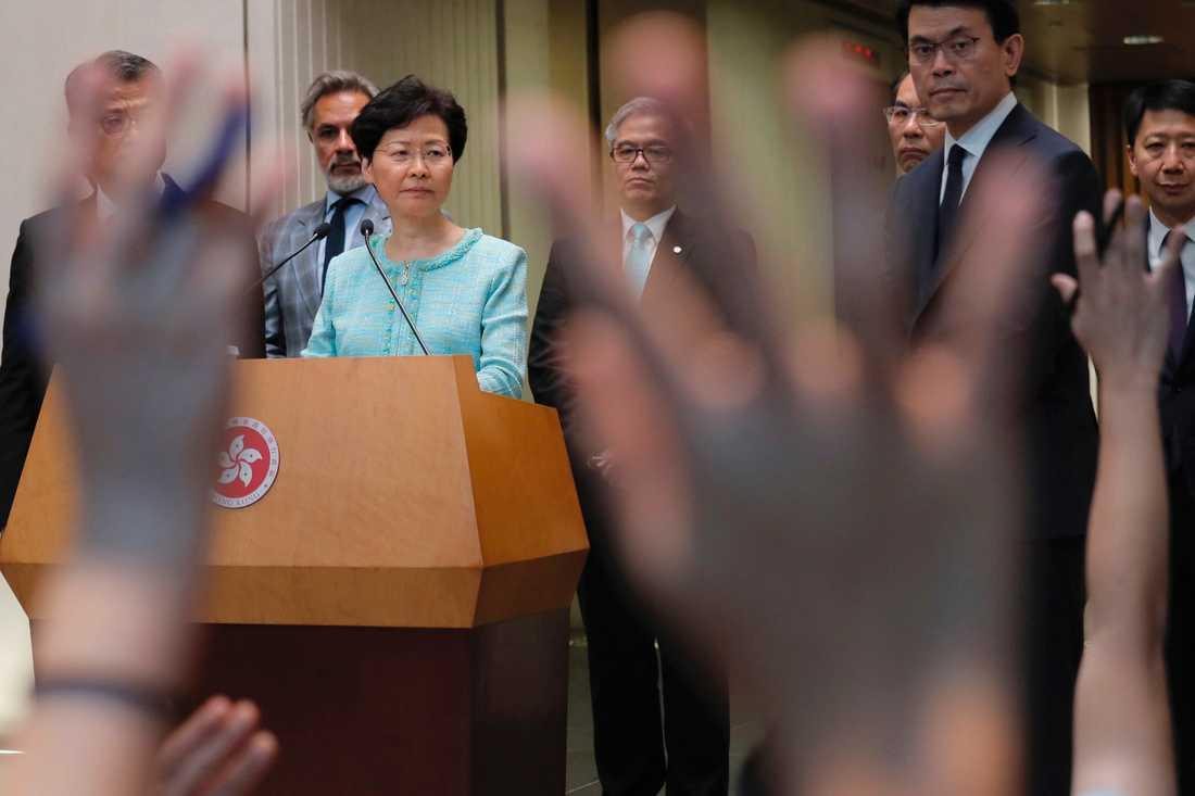 Hongkongs högsta politiska ledare Carrie Lam.