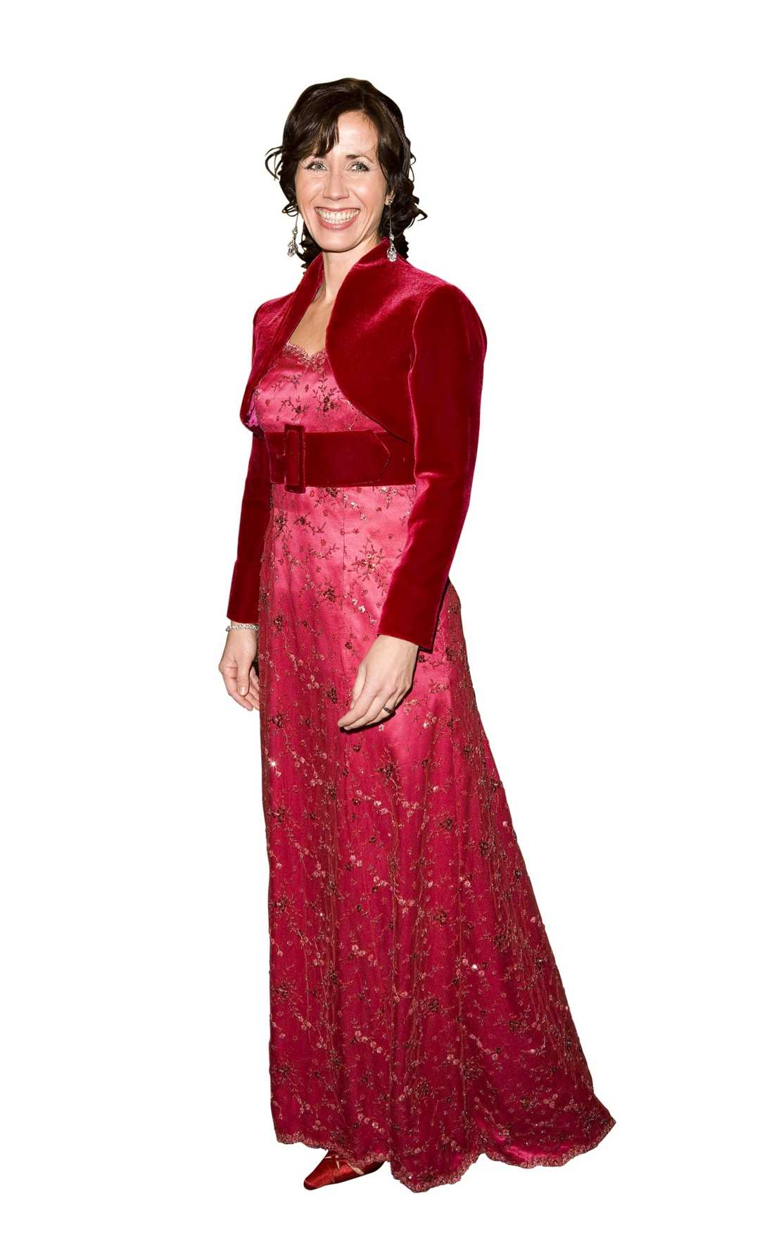 Filippa Reinfeldt med superklänningen á la Nobelfesten 2008. I år får vi se den igen - fast med små förändringar lovar hon.