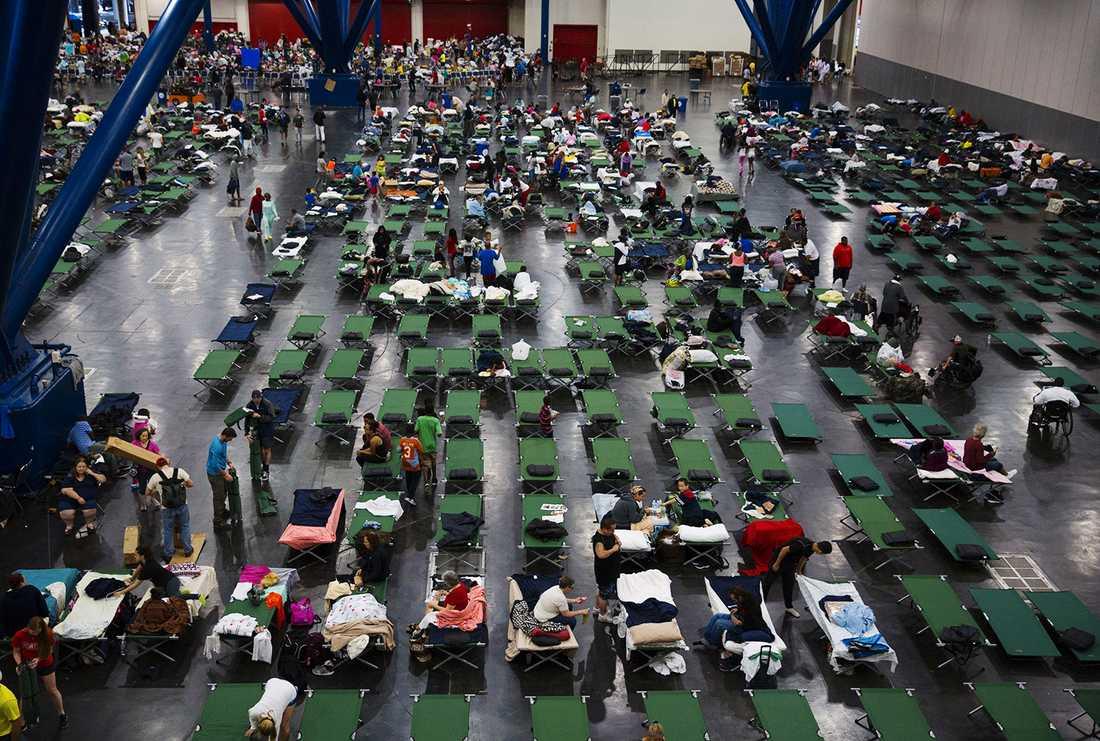 Tusentals människor har sökt skydd i George R. Brown Convention Center.