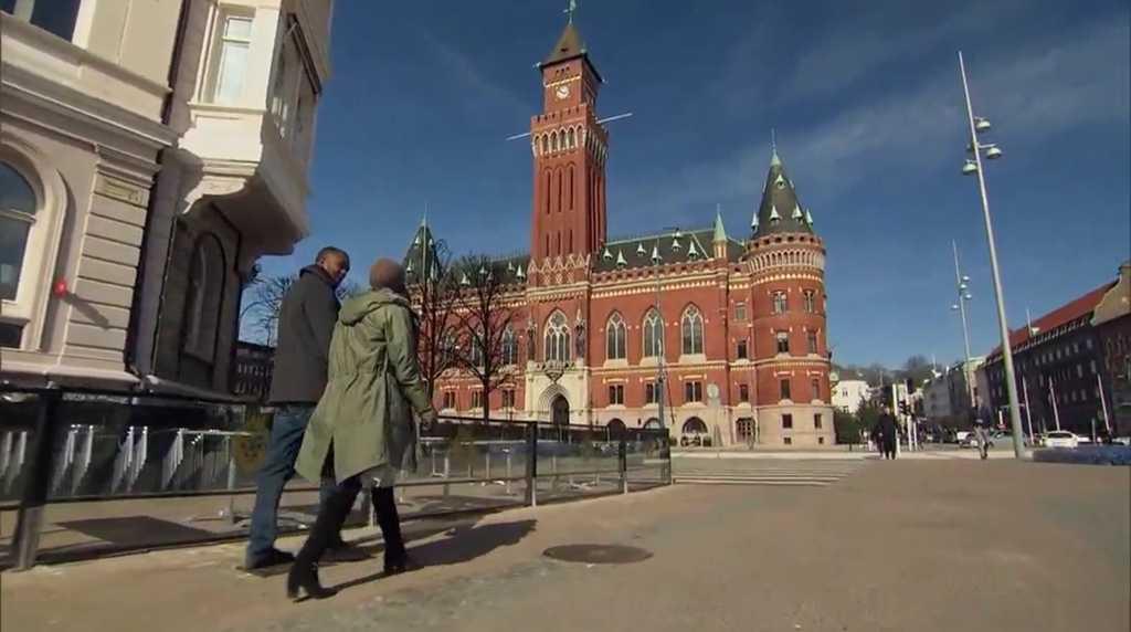 Rachel och hennes dejt i Helsingborg.