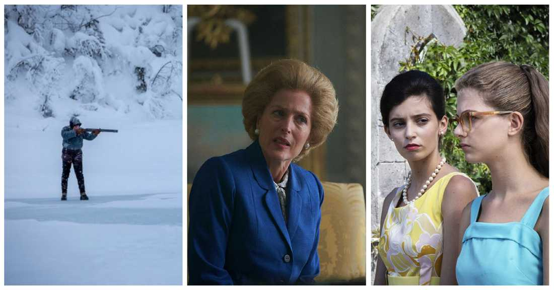 """""""Björnstad"""", """"The crown"""" och """"My brilliant friend – the story of a new name""""."""