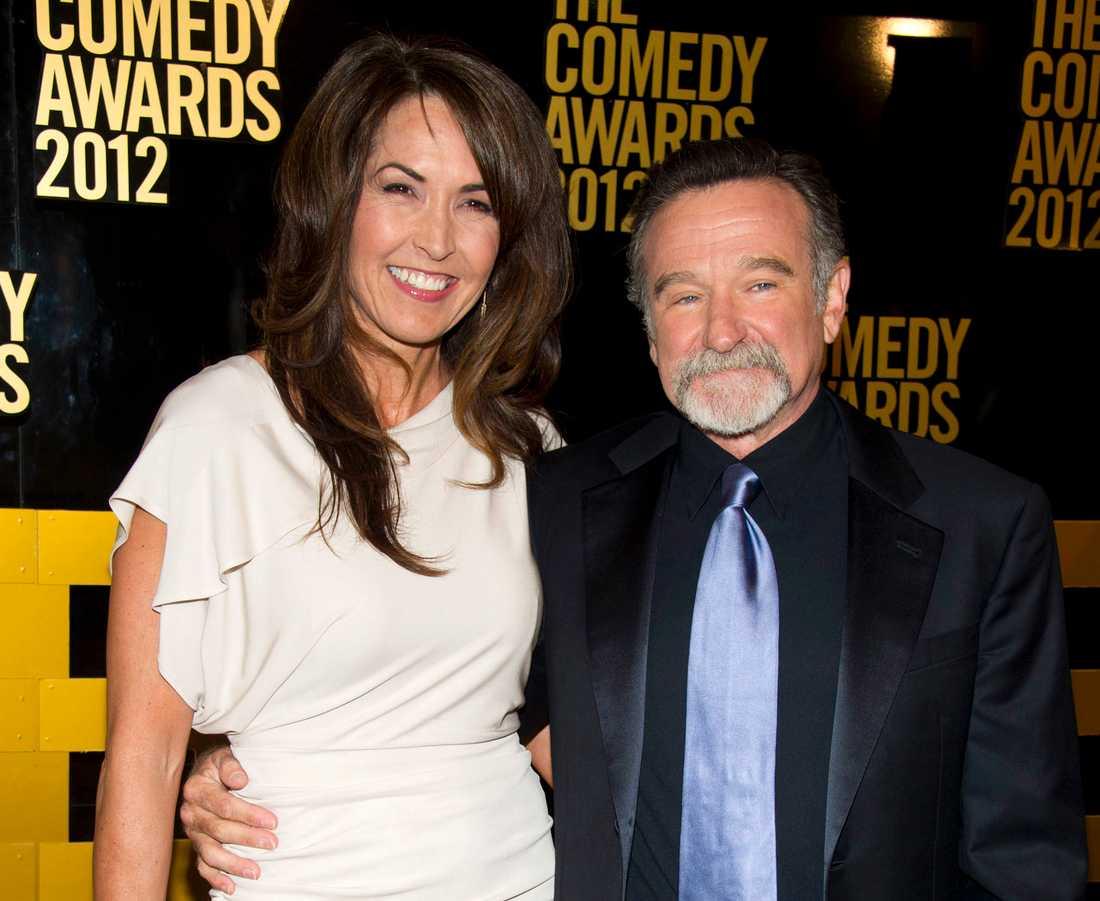 Robin Williams tillsammans med sin fru Susan Schneider Williams.
