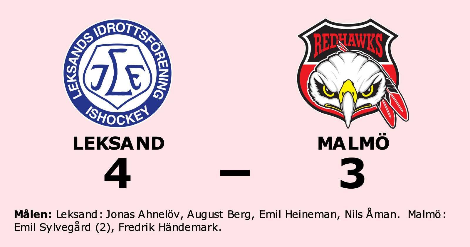 Underläge mot Malmö – då vände Leksand och vann