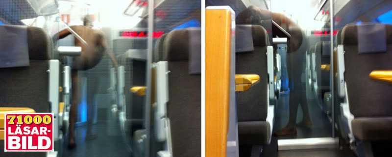 Den 30-årige mannen på tåget klädde av sig naken. Sedan överföll han konduktören och försökte våldta en kvinna.