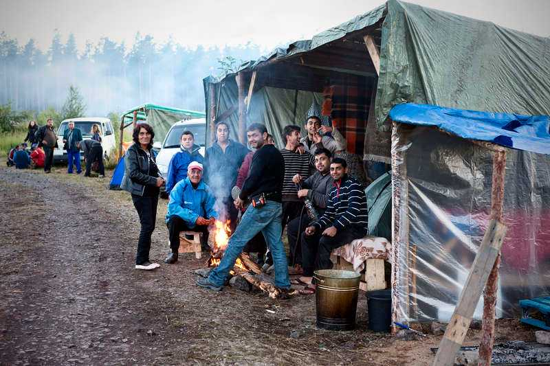 Får bo kvar Skogsbolaget Stora Enso tillåter två läger. Trots bristfälliga förhållanden kommer inte kommunen att ingripa – i alla fall inte innan bärplockarna själva begär hjälp.
