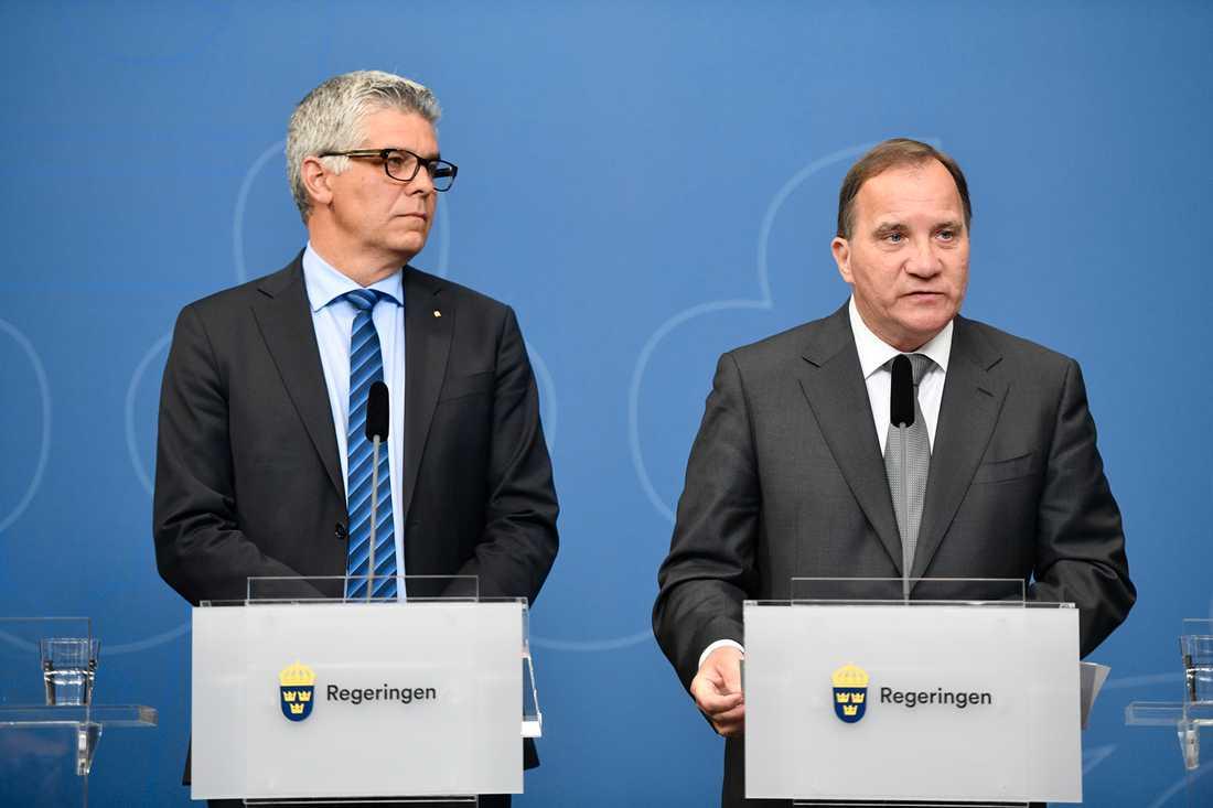 Anders Thornberg, generaldirektör Säkerhetspolisen och stadsminister Stefan Löfven.
