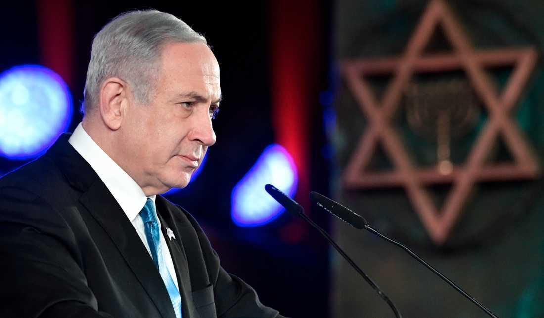 Benjamin Netanyahu. Bild från i förra veckan.