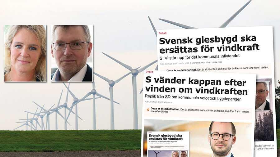Nej, SD, skillnaden mellan oss är inte synen på kommunalt inflytande utan synen på klimatfrågan. Klimatförnekelsen och ansvarslösheten löper som en röd tråd i SD, skriver Hanna Westerén och Isak From.