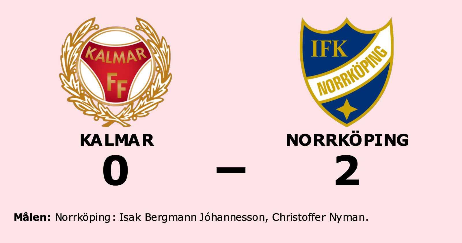 Bergmann Jóhannesson och Nyman målgörare i Norrköpings seger