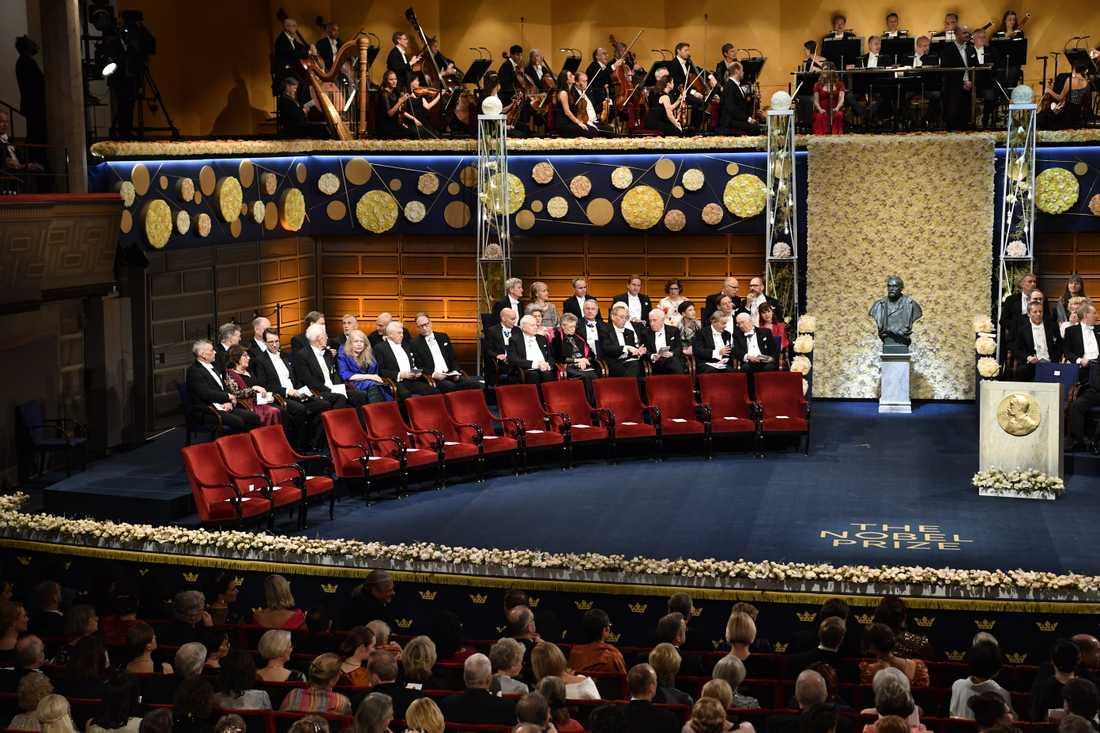 Nobelprisutdelningen i Konserthuset i Stockholm förra året. Arkivbild.