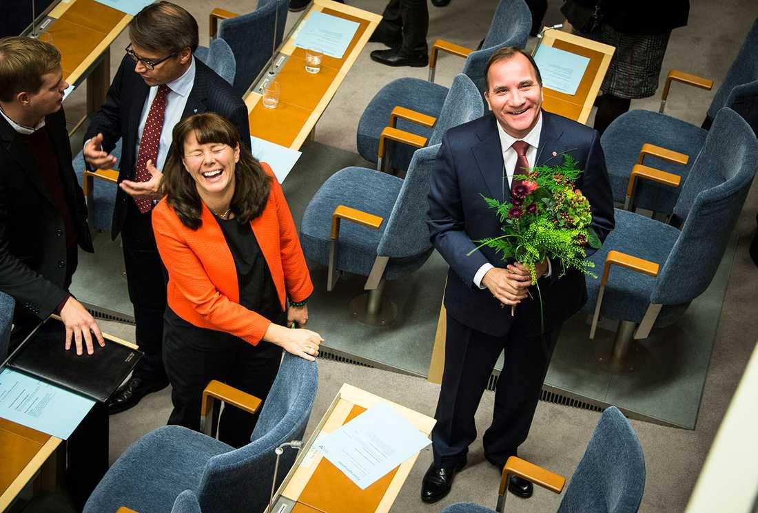 En oerhört glad Åsa Romson.