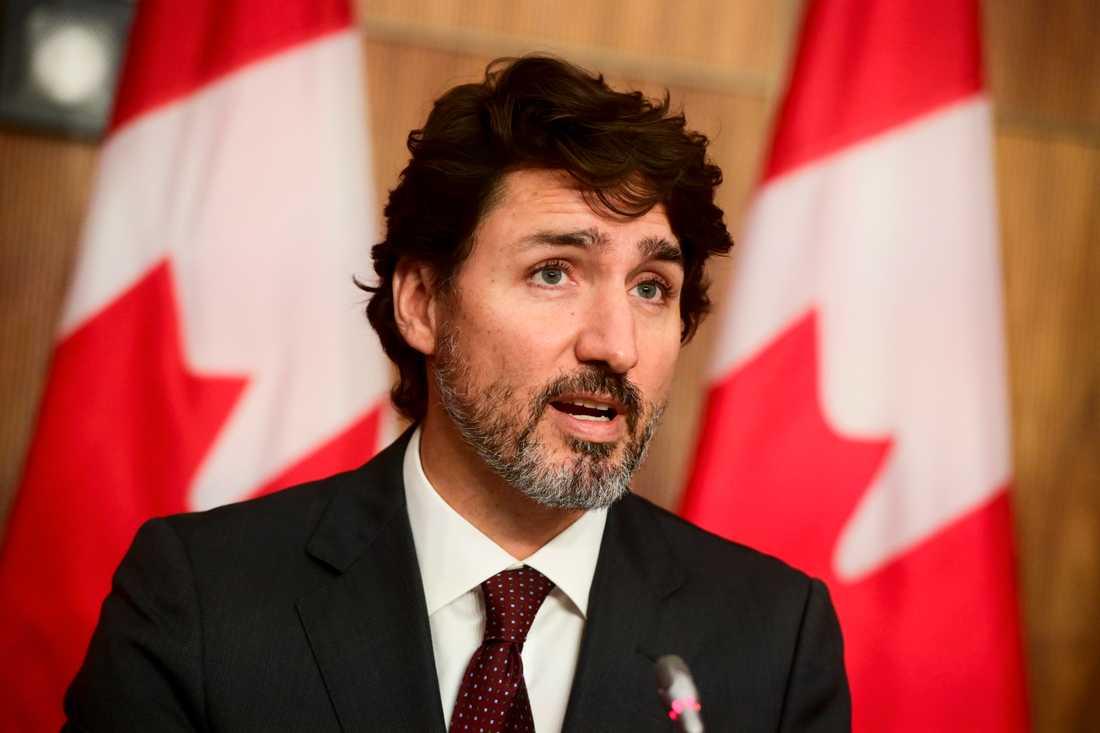 Kanadas premiärminister Justin Trudeau. Arkivbild.