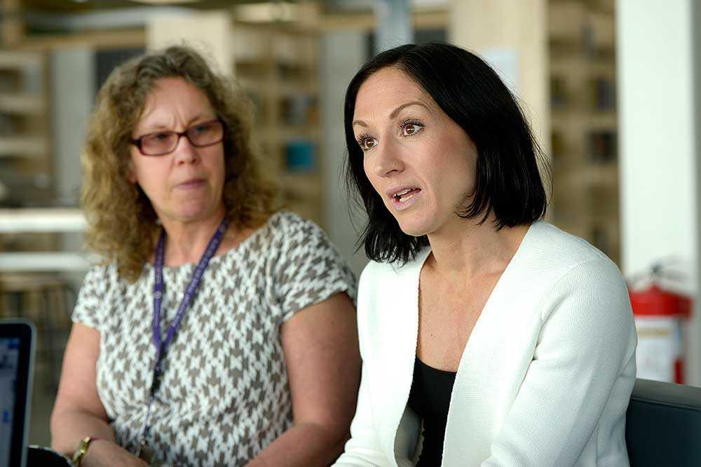 Lärarna Annelie Danling Brash och Anna Wisselgren.