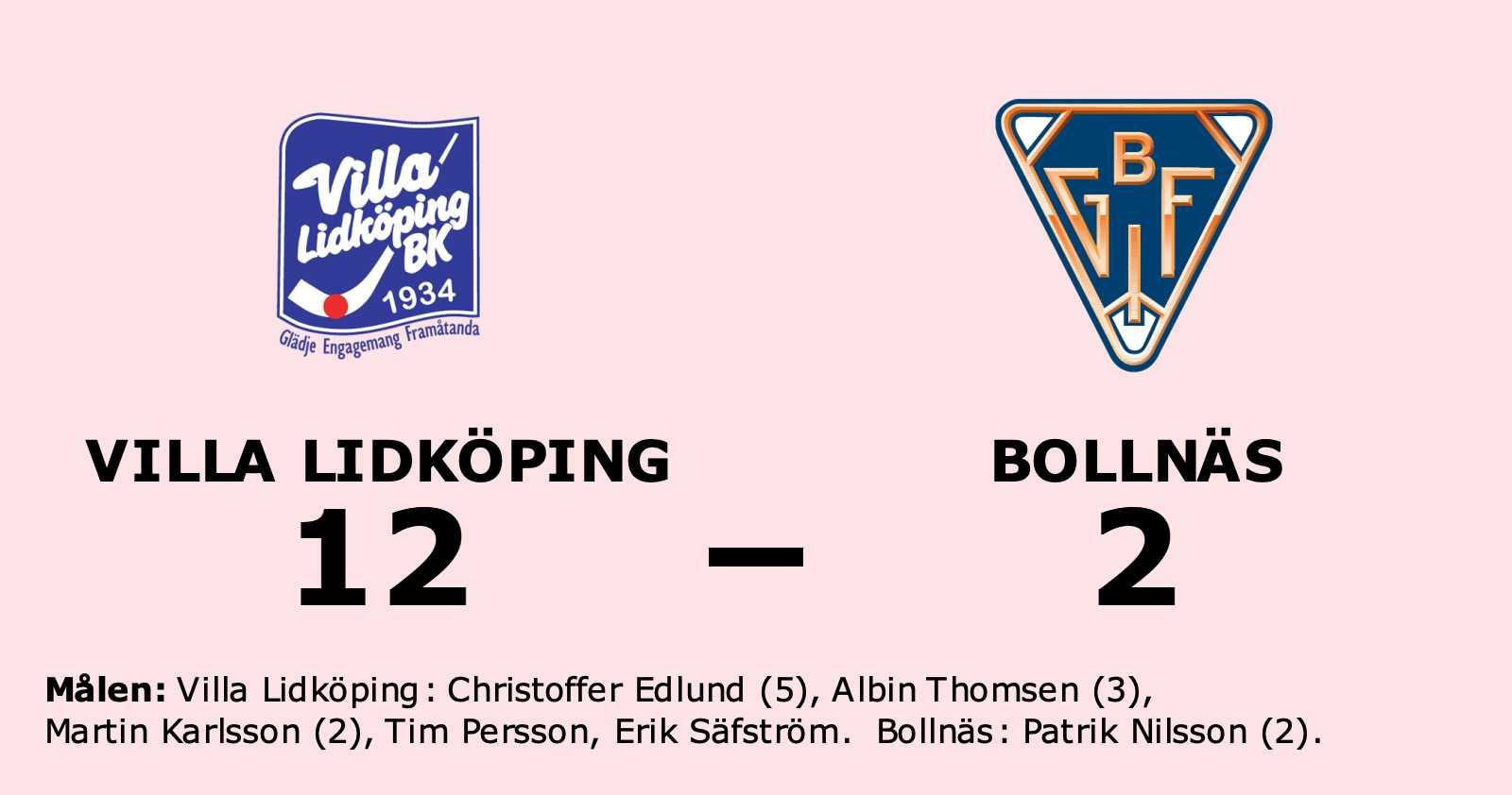 Villa Lidköping utklassade Bollnäs på hemmaplan