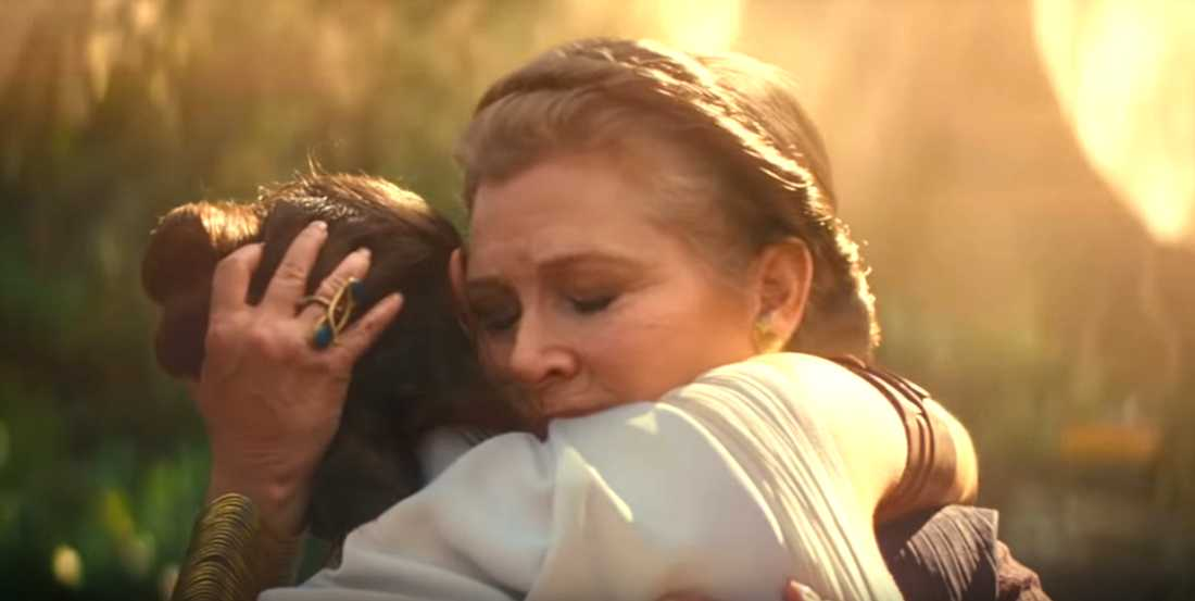 """Carrie Fisher i """"Star wars: The rise of Skywalker""""."""
