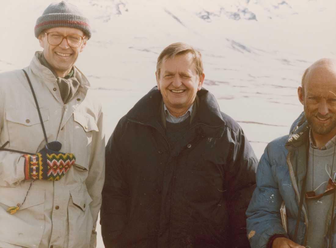 Pierre Schori, Olof Palme och Hans Dahlgren.