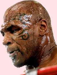 Svettigt, mike! 39-årige Tyson tränade i går inför mötet med Kevin McBride. Enligt honom själv är det den en Tyson i gammal storform som kommer att gå upp i ringen.