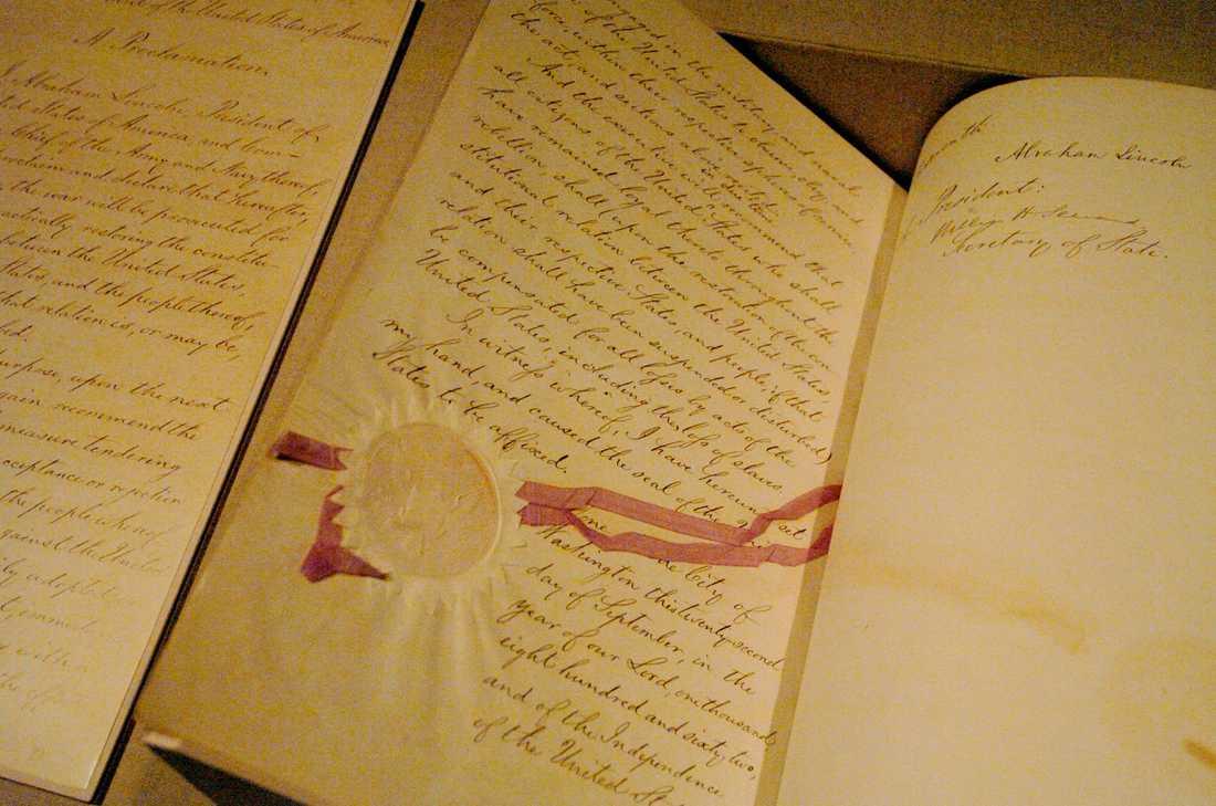 Mitt under pågående inbördeskrig avskaffade dåvarande presidenten Abraham Lincoln slaveriet 1863. Tre år tidigare tros Clotilda ha sänkts. Arkivbild.