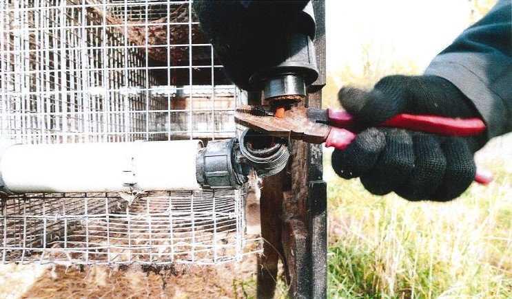 Männen dokumenterade skadegörelse som de utförde vid minkfarmen. Bland annat klipptes sladdar till burar.