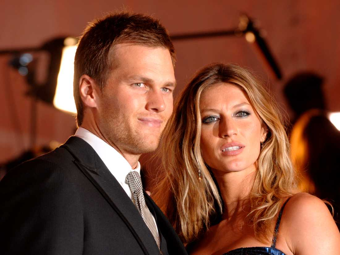 Gisele Bündchen med maken Tom Brady.