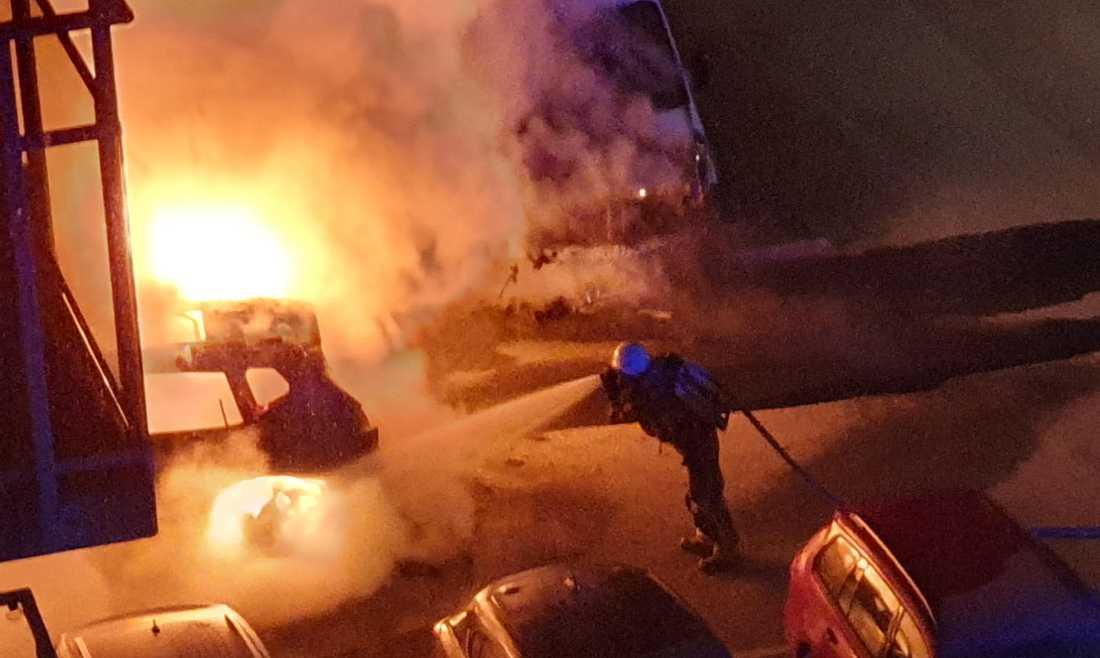 Bilbrand i Västertorp.