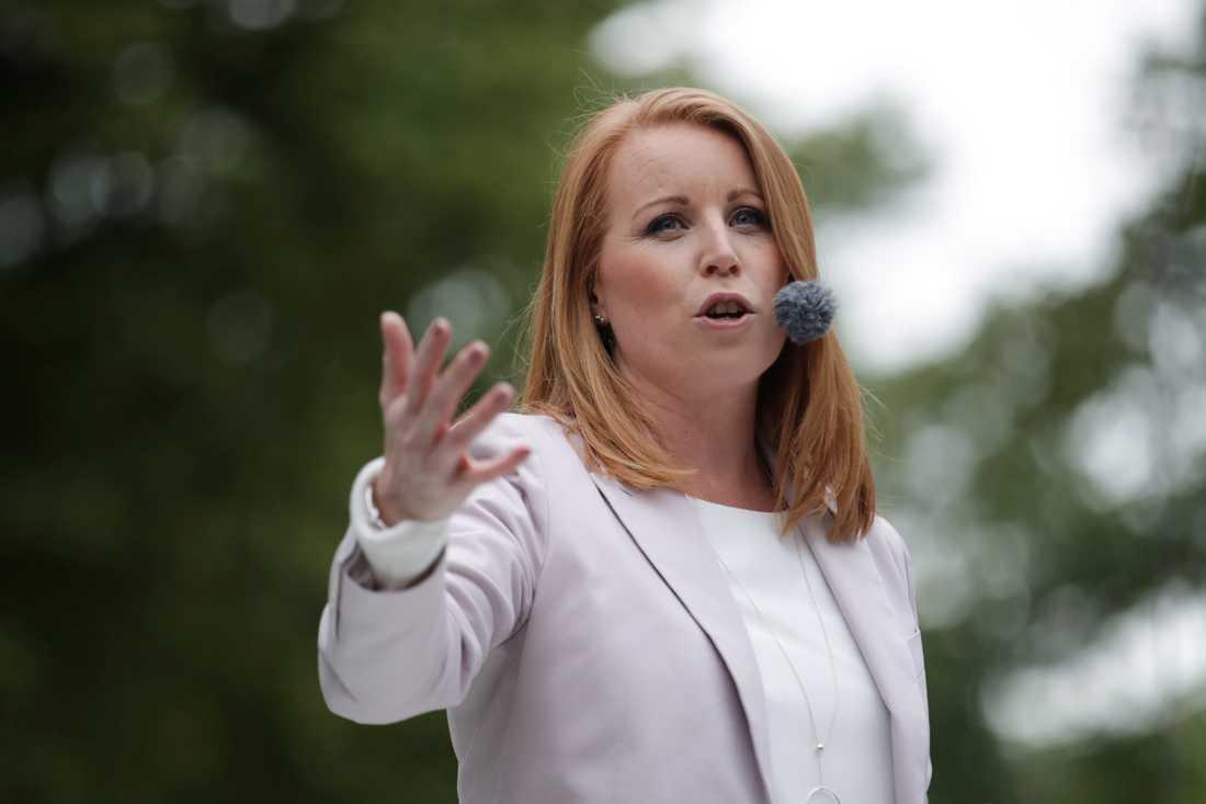 Centerpartiets partiledare Annie Lööf väntar sitt andra barn med nedkomst beräknad tiil början av 2020. Arkivbild.
